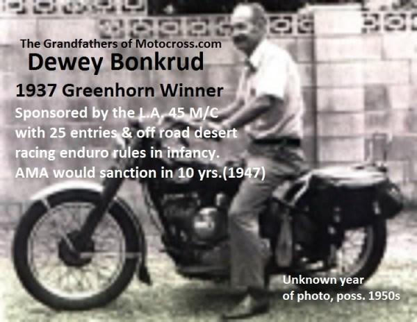 1937 Greenhorn winner Dewey Bonkrud (poss 1950s)