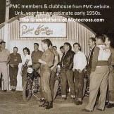 1950s PMC a1 members & clubhouse.
