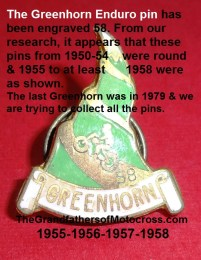 1950s PMC a4 1955-1958 plus Greenhorn pin history