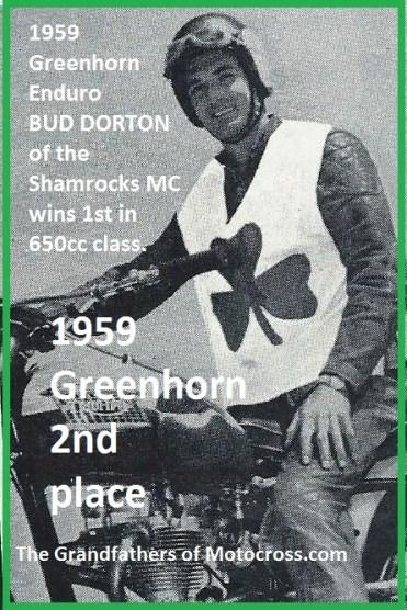1959 Greenhorn a10b Shamrock MC Bud Dorton wins 2nd
