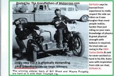 1959 Greenhorn a33 side car BILL WOOD & WAYNE FROGSTIP, Kretz Sr.
