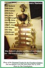 1962 Greenhorn a3 1947-1959 Max Bubeck perpetual trophy & names