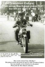 1962 Greenhorn a4 won in 1950 Greenhorn Enduro Max Bubeck comes in 9th