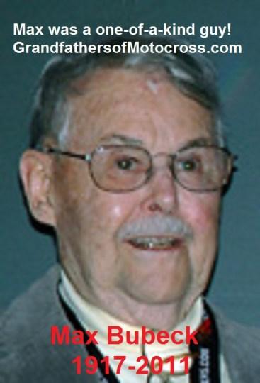 2011 AMA & much more, Max Bubeck 1917-2011 a racing legend