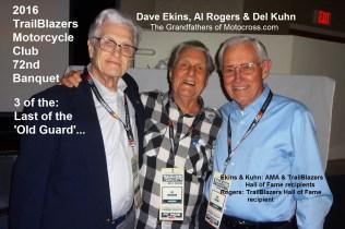 2016 a14 AMA & TrailBlazer HoF, Del Kuhn, Al Rogers & Dave Ekins