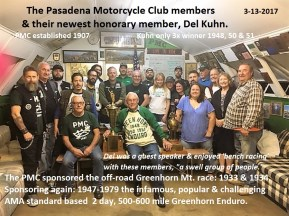 2017 3-13 a9 PMC Pasadena MC & Del Kuhn with trophies