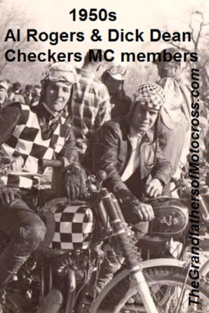 Al Rogers & Dean 1950s Checkers MC members & long time friends