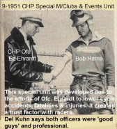 CHP 1951 CHP ofc. Ez Ehrhardt dresses wound of Bob Harris at Meadows Bay