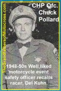 CHP & PMC a3 1953 CHP ofcs. Chuck Pollard, safety ofcs. for races
