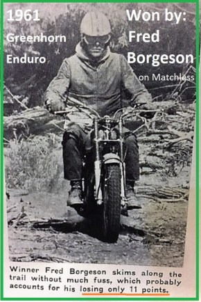 1961 Greenhorn 25 Winner Fred Borgeson lost only 11 points - Copy