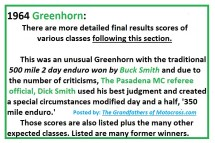 1964 Greenhorn z13b More Scores to follow