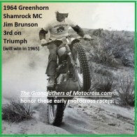 1964 Greenhorn z15 Jim Brunson 3rd Shamrock MC