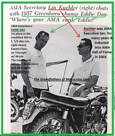 1964 Greenhorn z22 Lin Kuchler & 1957 winner Eddie Day..