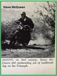 1964 Greenhorn z56 Steve McQueen on his Triumph...