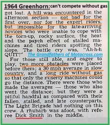 1964 Greenhorn z57 complaints, no gas
