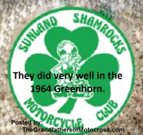 1964 Greenhorn z66 Sunland Shamrocks MC earned trophies