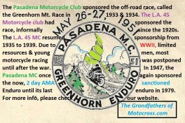 1965 a5c Legacy of PMC sponsors Greenhorn motorcycle race 1947-1979