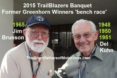 1965 e2 Greenhorn winner Jim Brunson & Del Kuhn at 2015 Trailblazers