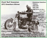 1966 r24b Greenhorn SUNDAY BUD HOWSEMAN & his GH history