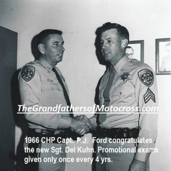 1966 r46 The new Sgt. Del Kuhn sworn in by Capt. in South L.A.
