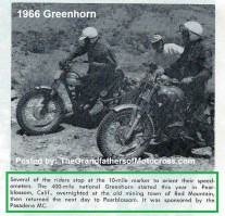 1966 r5 Greenhorn riders stop to check speedometers