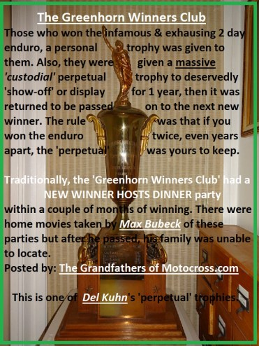 1966 s9 Greenhorn trophy & WINNERS CLUB