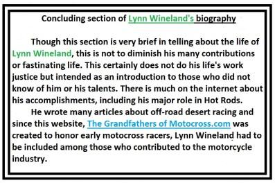 Bio of Lynn Wineland a20 The End