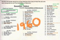 Borgeson 1960 Greenhorn RESULTS & others history