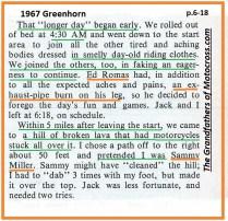 1967 C14 Greenhorn, Ed Romas, inspired Ekins pretended to be SAMMY MILLER
