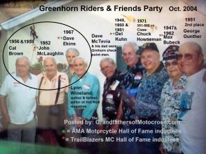 1967 s10 Greenhorn 2004 former winners, Cal Brown, John McLaughlin, Dave Ekins