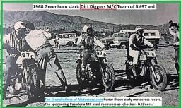 1968 c6a Greenhorn, team of 4 racers, Dirt Diggers 97a thru d