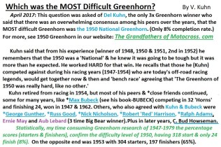 1968 s9 Which was most difficult Greenhorn
