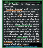 1969 Greenhorn M12a Day 2 begins