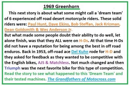 1969 Greenhorn M1a The DREAM TEAM on H-D
