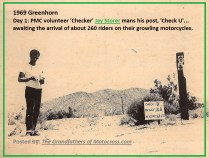 1969 Greenhorn b12 PMC checker Jay Storer volunteers