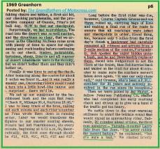1969 Greenhorn b6 wildlife, vandals, procedures, BOB GREENE, JAY STORER, LARRY SALO