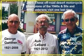 1969 s14 but 2001 Off Road champions George Gunther, Aub LeBarb & Del Kuhn visit