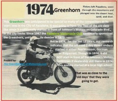 1974 a23f Greenhorn start history, city, Pearblossum, Gorman, Ridgecrest