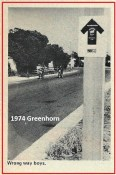 1974 a25 Greenhorn riders start wrong way