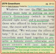 1974 a40 PMC need help, correctly predicted Greenhorn demise