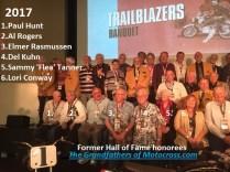 2017 a1 TrailBlazers Hall of Fame group photo, Paul Hunt