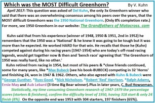 1970 s9 Which was the most difficult Greenhorn
