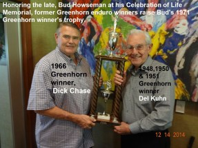 1971 Greenhorn a20 in 2014 Dick Chase & Del Kuhn at Howseman Memorial.
