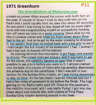 1971 Greenhorn b19, water crossing, fog, drizzle