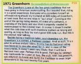 1971 Greenhorn b27 tradition, National status