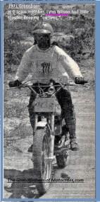 1971 Greenhorn c12a HD female team rider, Lynn Wilson