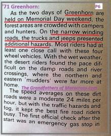 1971 Greenhorn d13 Memorial weekend more off road traffic