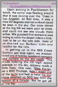 1971 Greenhorn d28 lots of dirt road traffic, close call Mike Haney