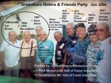 x5 2004 Greenhorn former winners, Cal Brown, John McLaughlin, Dave Ekins