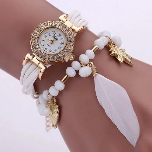 Diamond encrusted watch worn by lady